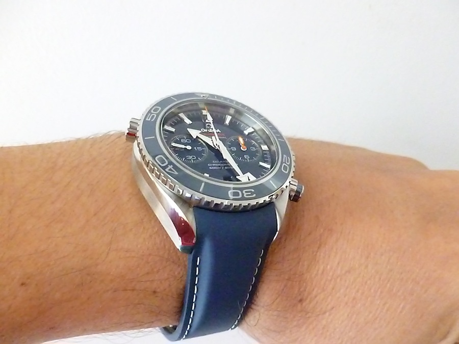 Omega Seamaster With Blue Strap